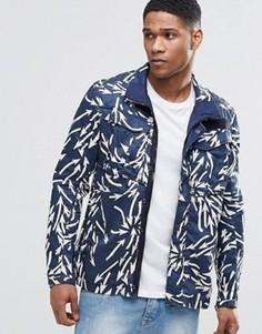 Куртка в стиле милитари с принтом стрел G-Star Rovic - Синий