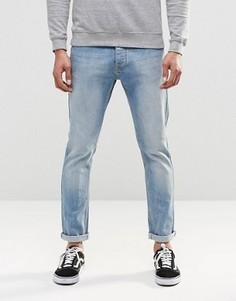 Стретчевые джинсы скинни в винтажном стиле LDN DNM - Синий