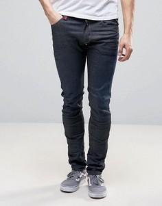 Темные плотные стретчевые джинсы скинни Replay Jondrill 3D - Синий