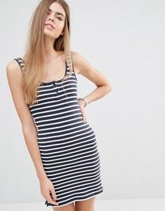 Трикотажное платье‑майка в полоску Jack Wills - Темно-синий