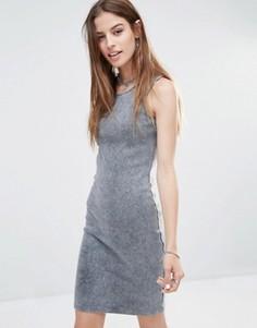 Платье-майка в рубчик Noisy May - Серый