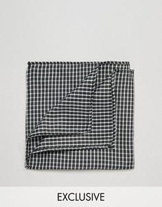 Черный платок-паше в клетку Reclaimed Vintage - Черный