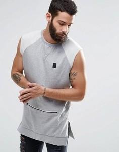 Свитшот без рукавов с карманом на молнии Religion Trail - Серый