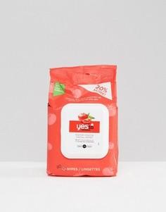 30 очищающих салфеток для лица Yes To Tomatoes - Бесцветный