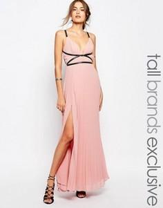Платье макси в греческом стиле со складками True Decadence Tall - Розовый