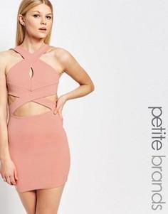Облегающее платье с вырезами Boohoo Petite - Розовый