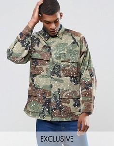 Куртка в стиле милитари с эффектом брызг краски Reclaimed Vintage - Зеленый