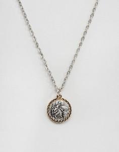 Серебристое ожерелье с подвеской Icon Brand - Серебряный