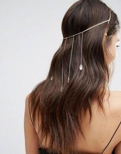 Украшение для волос с листочками Love Rocks - Золотой