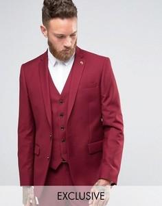 Бордовый зауженный пиджак Farah - Красный