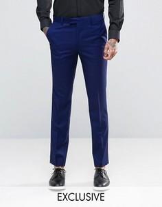 Синие брюки зауженного кроя Farah - Зеленый
