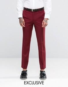 Бордовые брюки скинни Farah - Синий