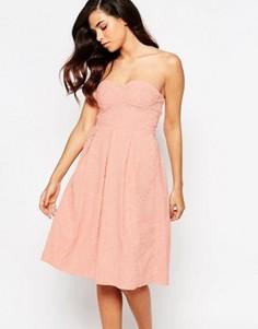 Платье миди для выпускного Lashes Of London - Розовый