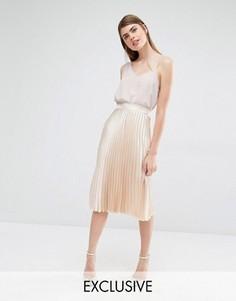 Плиссированная юбка миди True Violet - Золотой