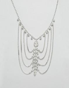 Драпированное ожерелье с кристаллами Swarovski от Krystal - Золотой