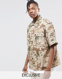 Рубашка с камуфляжным принтом Reclaimed Vintage - Stone