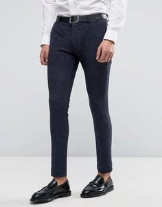 Трикотажные супероблегающие брюки ASOS - Темно-синий