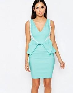 Платье-футляр с бантом Vesper Rayna - Зеленый