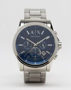 Часы с хронографом из нержавеющей стали Armani Exchange AX2509 - Серебряный