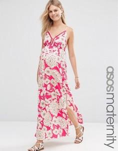 Платье макси с цветочным принтом для беременных ASOS Maternity - Мульти