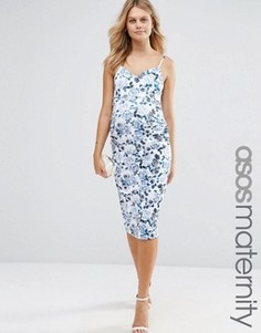 Платье футляр для беременных с цветочным принтом ASOS Maternity - Мульти