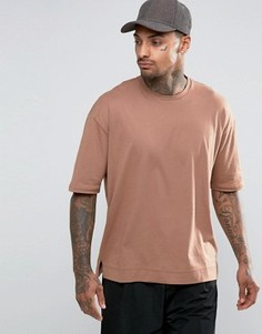 Прямая свободная футболка Sixth June - Stone