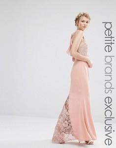 Платье-халтер макси с кружевным верхом Jarlo Petite - Розовый