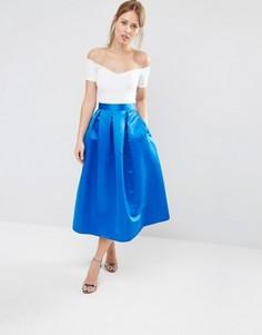Юбка в складку для выпускного Closet - Синий