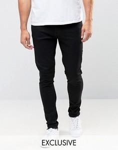 Черные суперзауженные джинсы с необработанным краем Brooklyn Supply Co Dyker - Черный