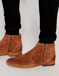Замшевые ботинки на молнии Walk London Giles - Рыжий