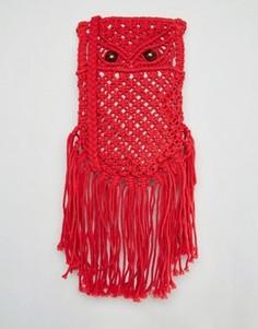 Красная сумка кроше через плечо Glamorous - Красный