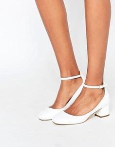 Белые туфли на среднем каблуке Miss KG - Белый