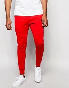 Красные флисовые джоггеры скинни Nike Tech 805162-654 - Красный