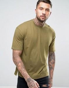 Прямая свободная футболка Sixth June - Зеленый