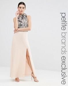 Платье макси с разрезом до бедра Maya Petite - Розовый