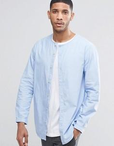 Рубашка без воротника ADPT - Синий