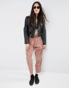 Зауженные брюки-галифе в стиле casual от ASOS - Оранжевый