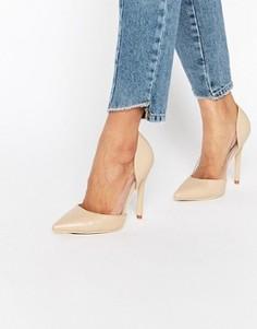 Туфли-лодочки с прозрачной вставкой Public Desire Keely - Розовый
