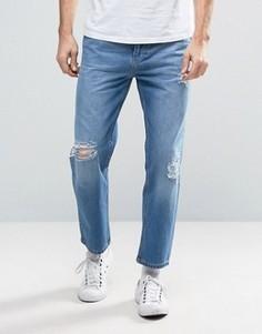 Синие рваные джинсы Religion Rehab - Синий