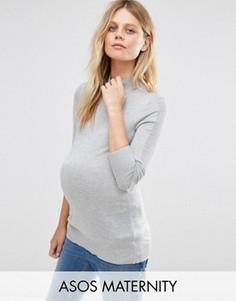 Джемпер для беременных с высоким воротом ASOS Maternity - Черный