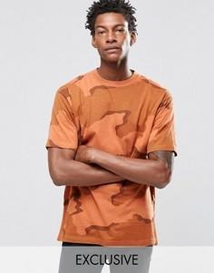 Камуфляжная oversize‑футболка Reclaimed Vintage - Оранжевый