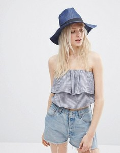 Соломенная шляпа-федора ASOS - Темно-синий
