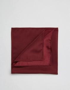 Бордовый платок для нагрудного кармана ASOS - Красный