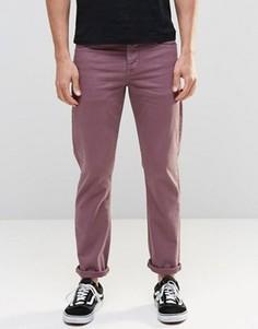 Фиолетовые стретчевые джинсы слим ASOS - Фиолетовый