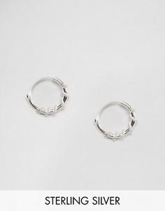 Серебряные серьги‑кольца 10 мм Kingsley Ryan - Серебряный