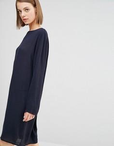Цельнокройное платье Selected Poey - Темно-синий