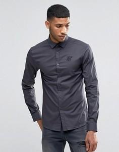 Стретчевая рубашка зауженного кроя SikSilk - Серый