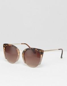 Солнцезащитные очки кошачий глаз в черепаховой оправе ASOS - Коричневый