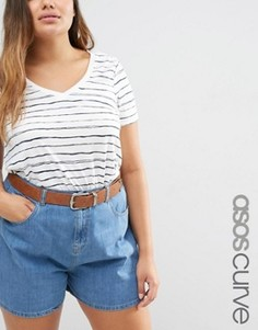 Ремень для джинсов с наконечником ASOS CURVE - Коричневый