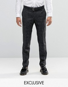 Супероблегающие строгие брюки в клетку Noak - Черный
